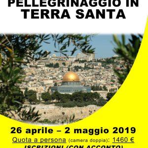 ANNULLATO il Pellegrinaggio in Terrasanta 2019