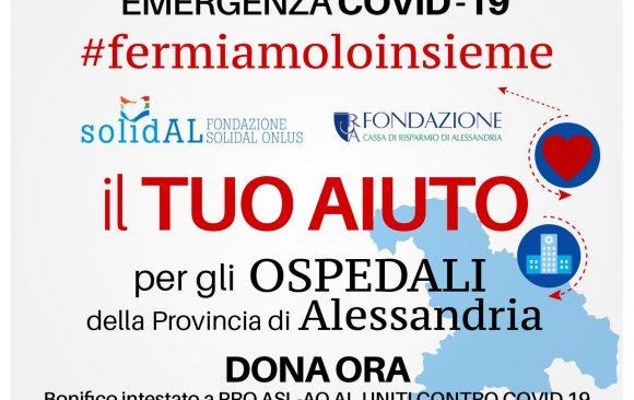 Coronavirus, donazioni a favore dell'Azienda Ospedaliera di Alessandria