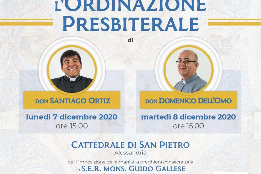 Don Santiago e Don Domenico sacerdoti: tutte le informazioni per partecipare alle ordinazioni