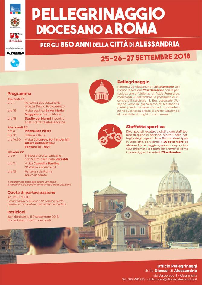 Pellegrinaggio a Roma per gli 850 anni di Alessandria