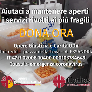 Caritas Alessandria, «Aiutateci a preservare i servizi per i più fragili»