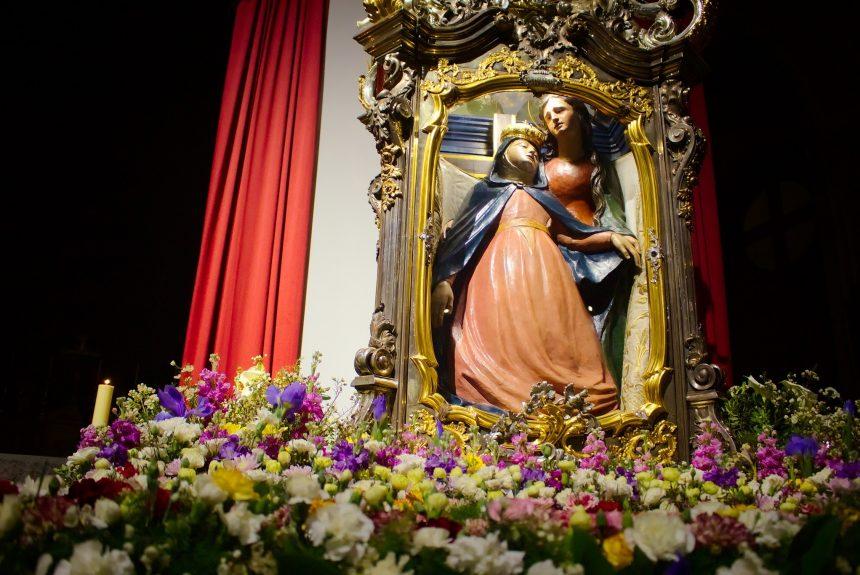 """La Madonna della Salve in """"peregrinatio""""  tra le case e le strade deserte della città"""