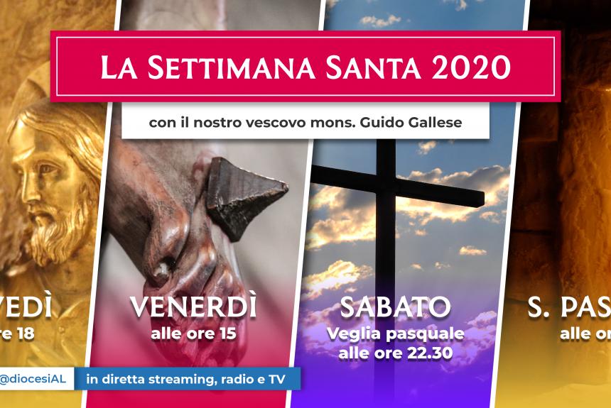 Settimana Santa   Le celebrazioni del Vescovo in streaming, radio e Tv